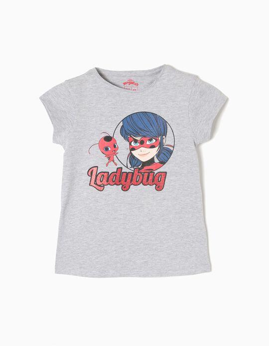 Grey T-Shirt, Ladybug Miraculous