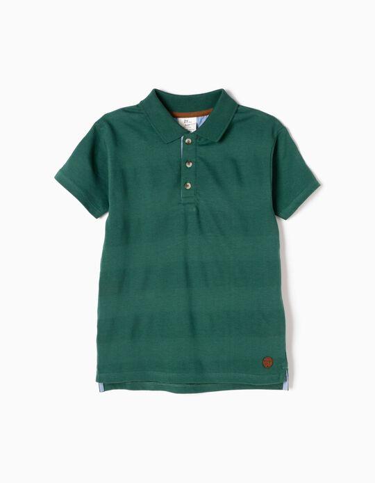 Green Short-Sleeved Polo Shirt
