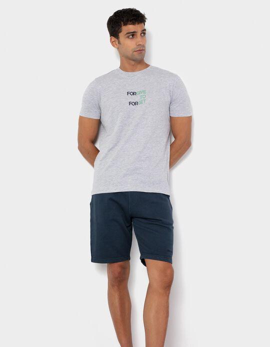 Forgive' T-shirt for Men, Grey
