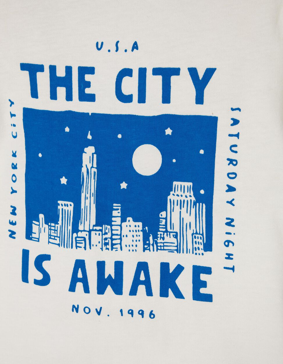 T-shirt New York Cinzenta