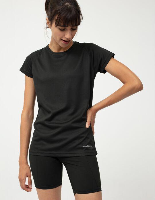 Techno Sports T-shirt, Women, Black