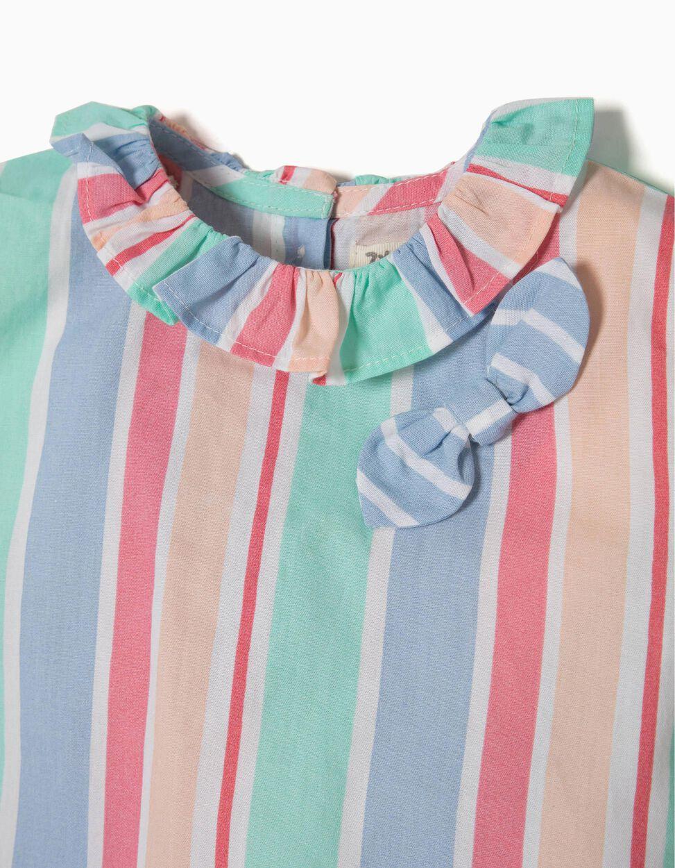 Conjunto T-shirt e Calções Riscas