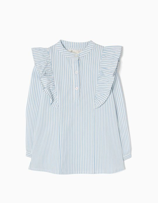 Blusa Riscas e Folhos