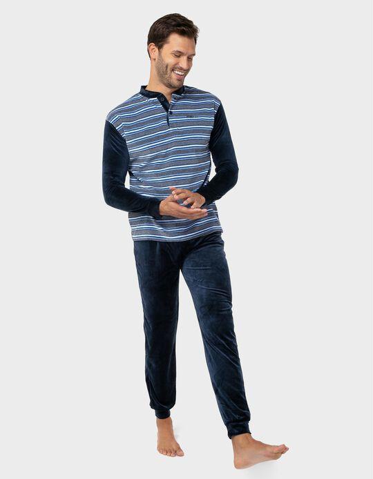 Striped velvety pyjamas