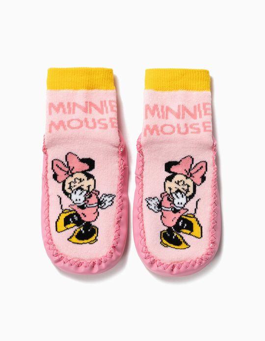 Meias-Pantufa Antiderrapantes para Menina 'Minnie', Rosa