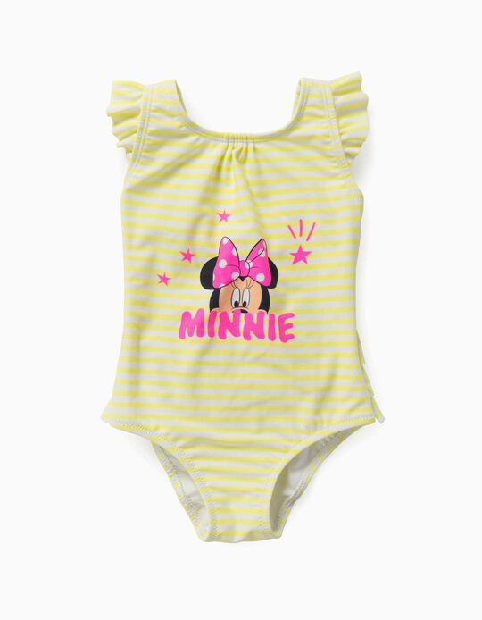 Swimsuit for Baby Girls, 'Minnie Mouse', Yellow/White