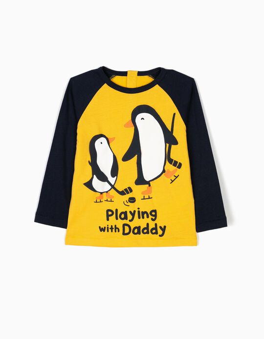 Two-Tone Long-Sleeved Top, Playing With Daddy