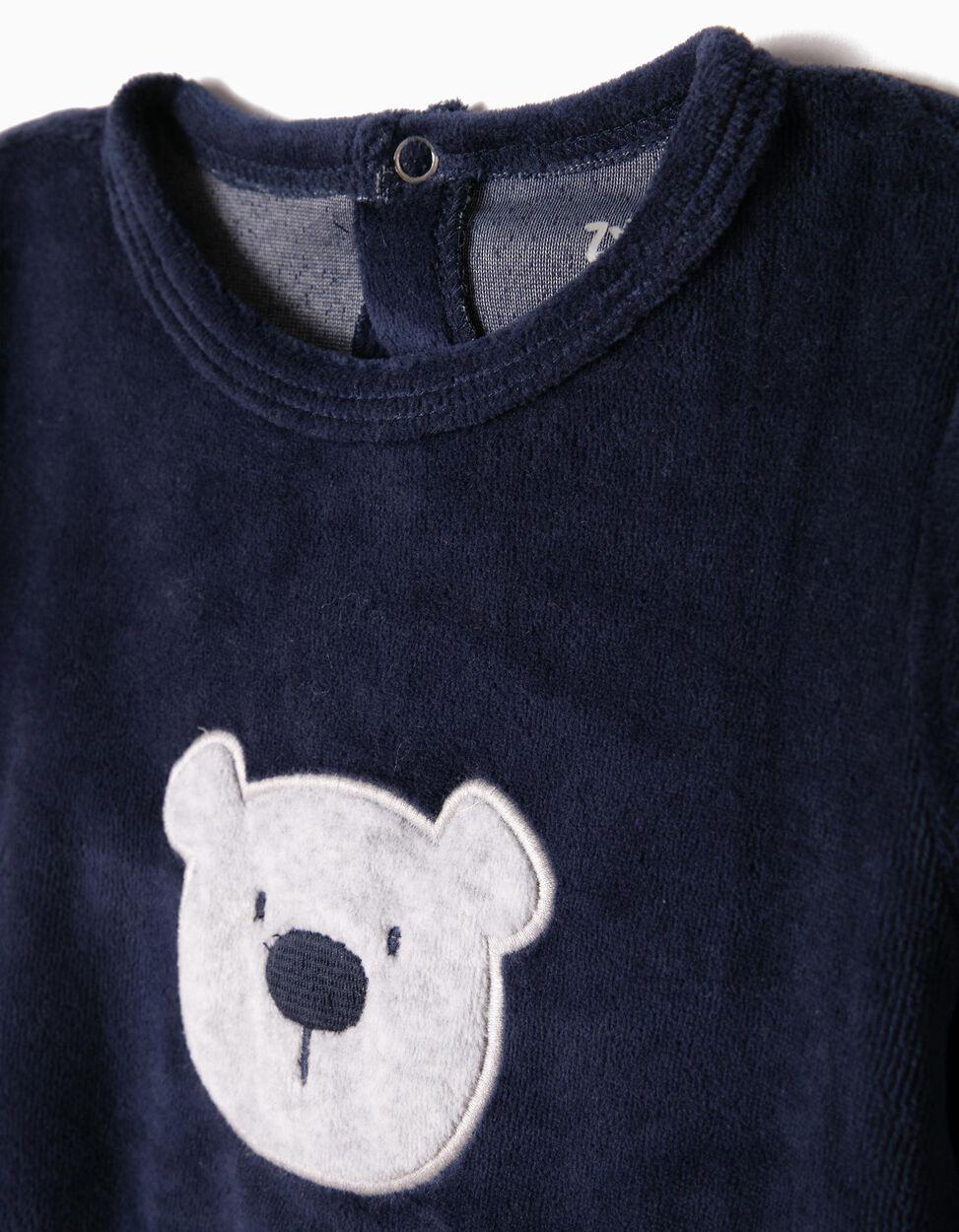 Babygrow Veludo Ursinho Cinzento