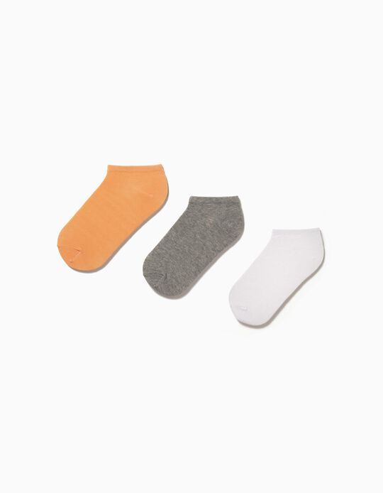 3 Pairs of Plain Trainer Socks, for Women