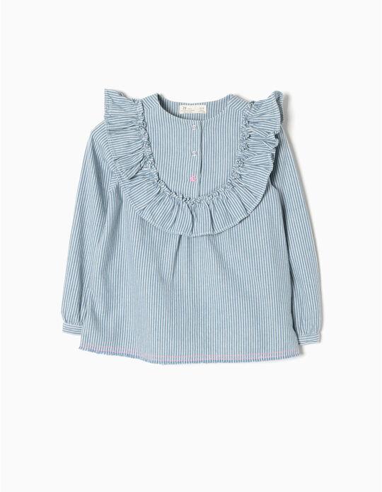 Blusa Riscas Azul