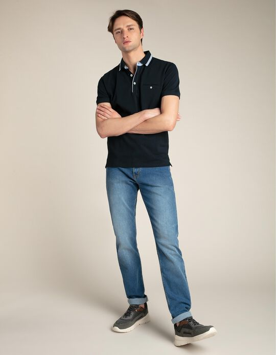 Jeans slim-fit com lavagem