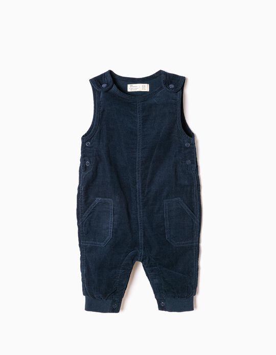 Blue Corduroy Jumpsuit
