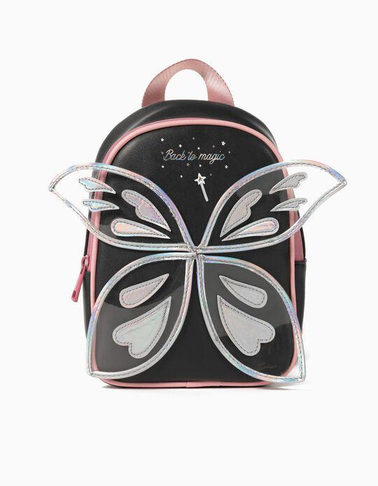 Magic' Backpack for Girls, Dark Blue/ Pink