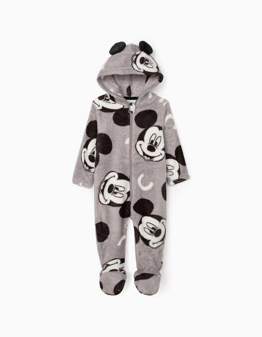 Pijama-Macacão para Bebé Menino 'Mickey', Cinza
