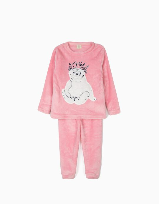 Pyjamas for Girls 'Queen Sloth', Pink