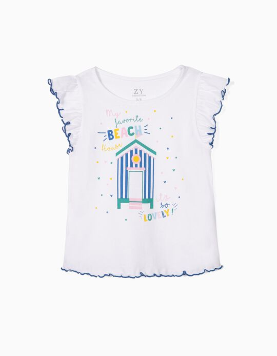 T-shirt for Girls 'Summer Memories', White