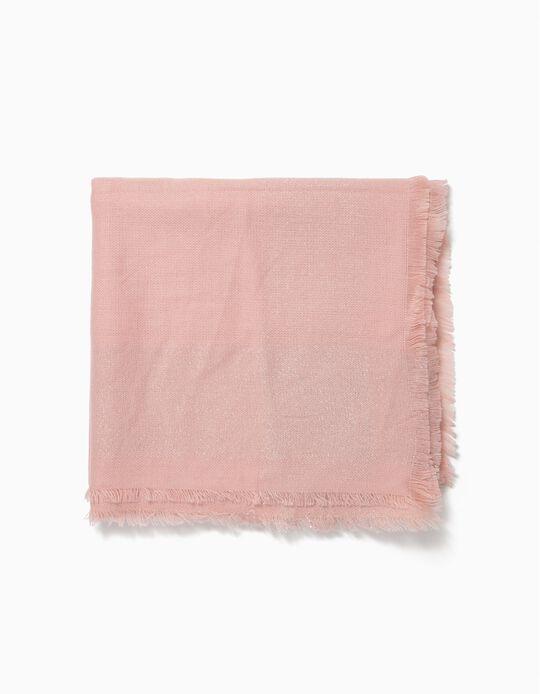 Lenço rosa com lurex
