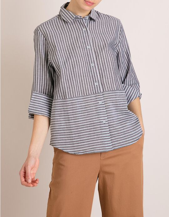Camisa Riscas Algodão