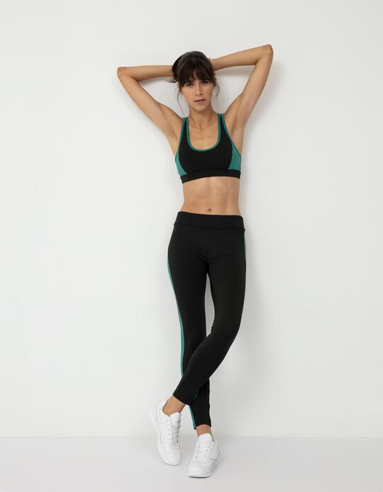 Sports Top and Leggings, Women, Black