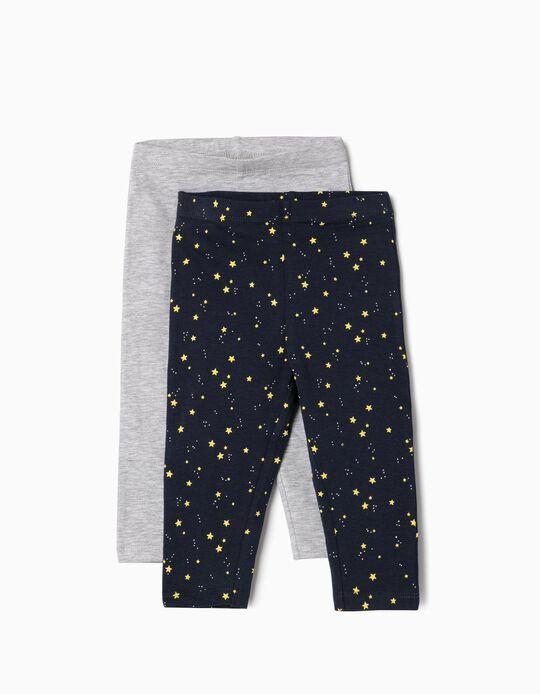 Leggings estrelas, pack de 2