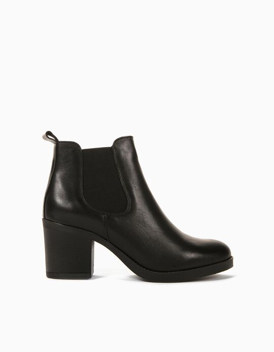 Leather Boots for Women, Made in Portugal, Black
