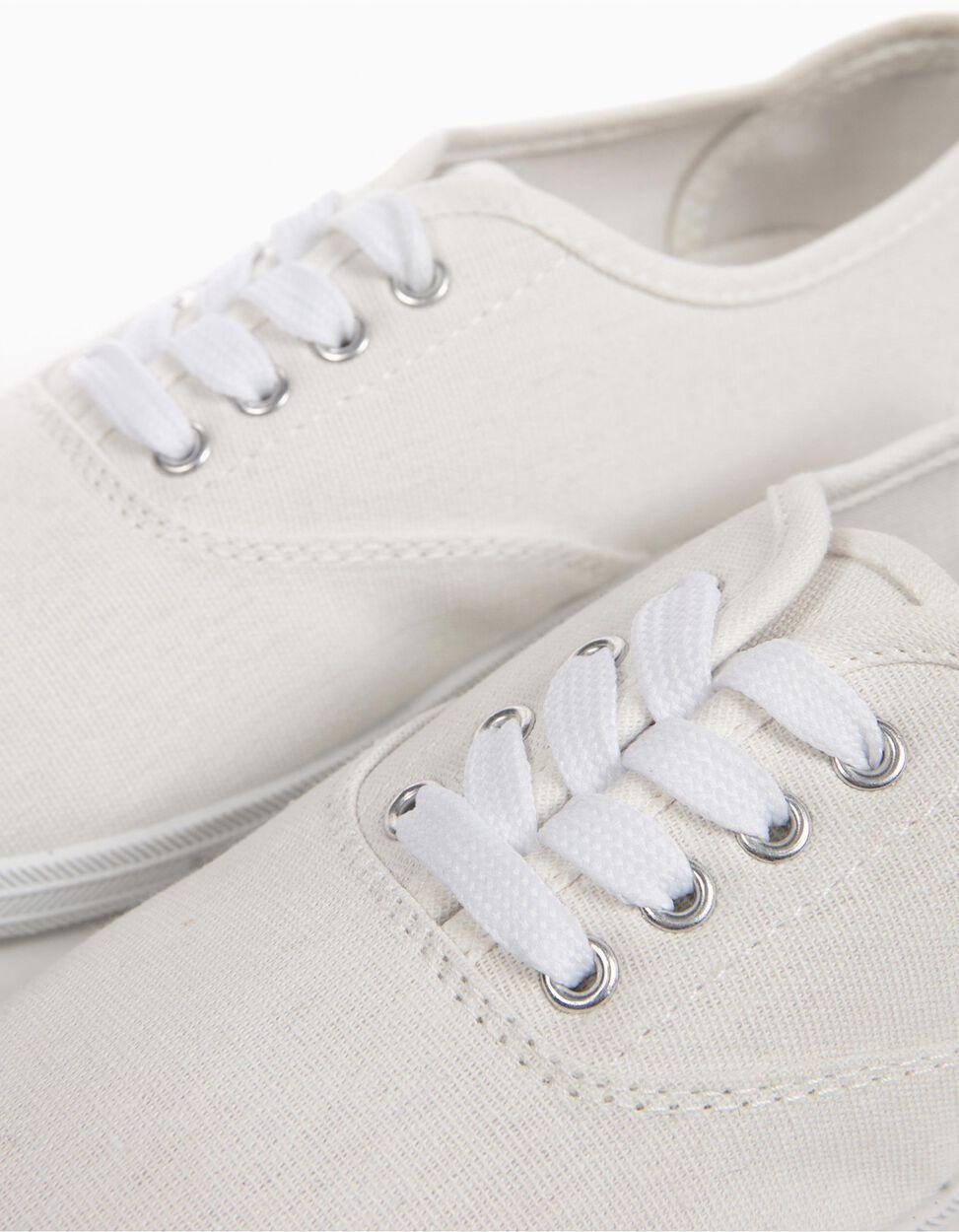 Sapatilhas Lona Brancas