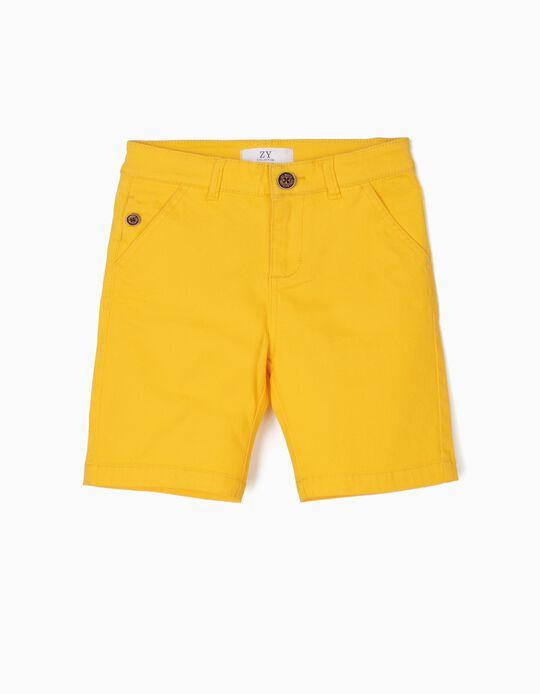 Calções para Menino, Amarelo