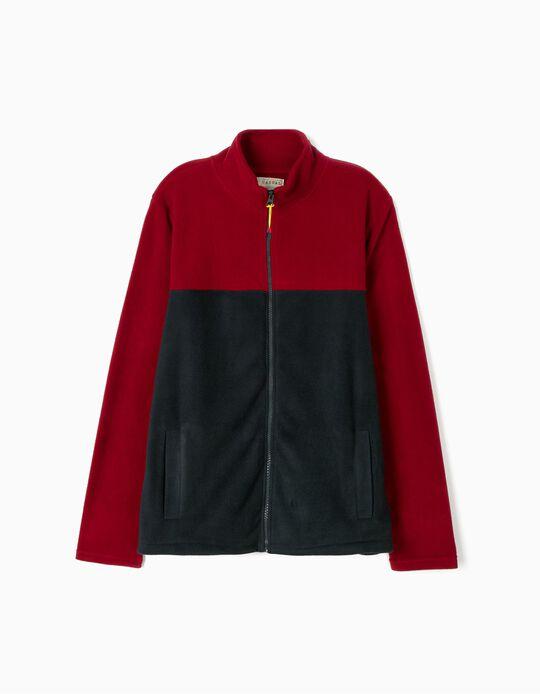 Colourblock polar fleece jacket
