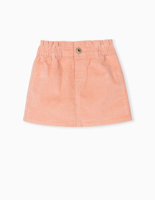 Velour Skirt, Baby Girls, Pink