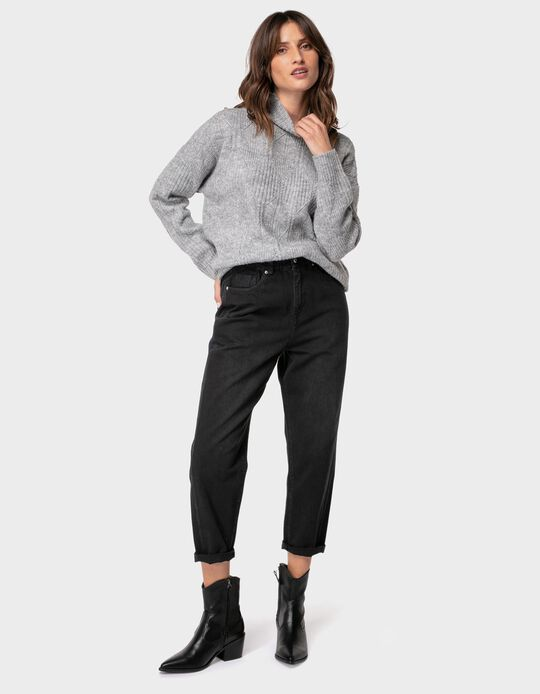 Slouchy jeans with elasticated waistband