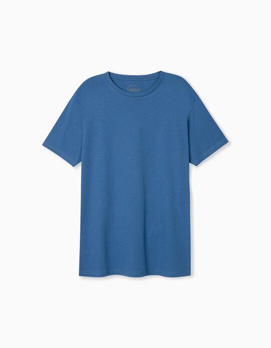 T-shirt Básica, Homem, Azul