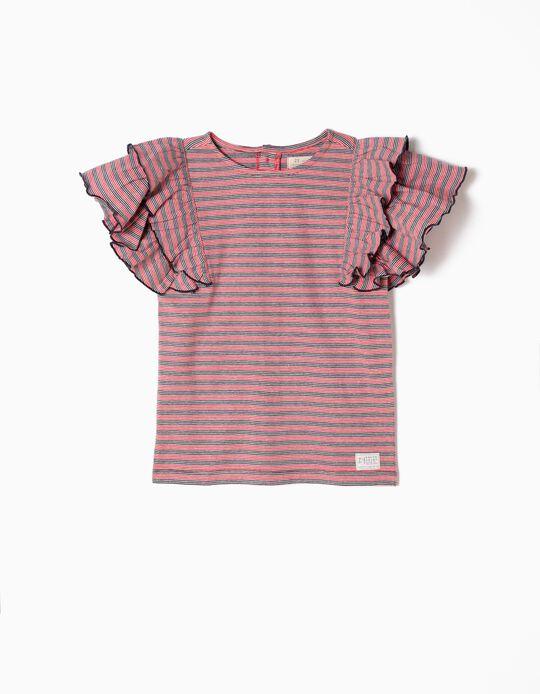 T-Shirt, Stripes & Frills