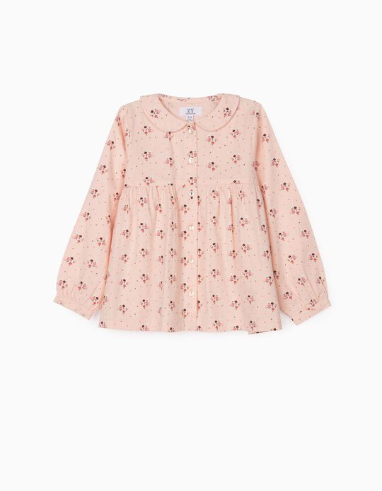 Floral Blouse for Girls, Pink