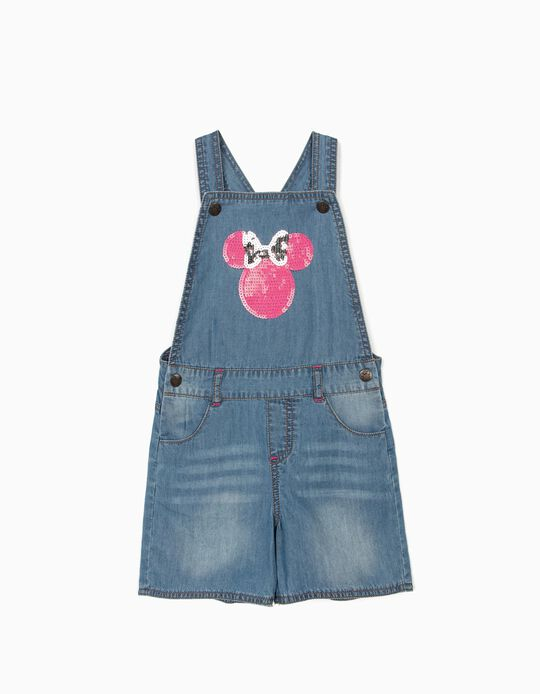 Short Dungarees for Girls, 'Minnie Mouse', Blue