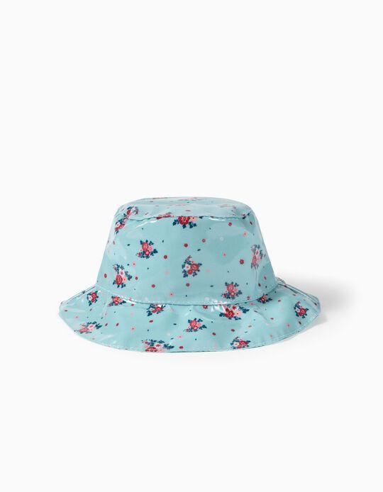 Chapéu de Chuva para Menina 'Flores', Azul