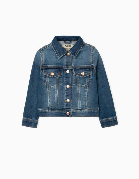 Jean Jacket for Girls, Blue