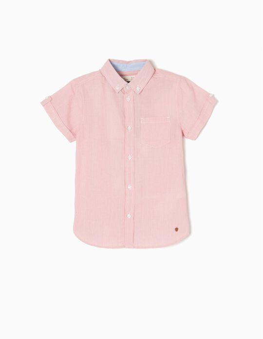 Short-Sleeved Shirt, Red Stripes