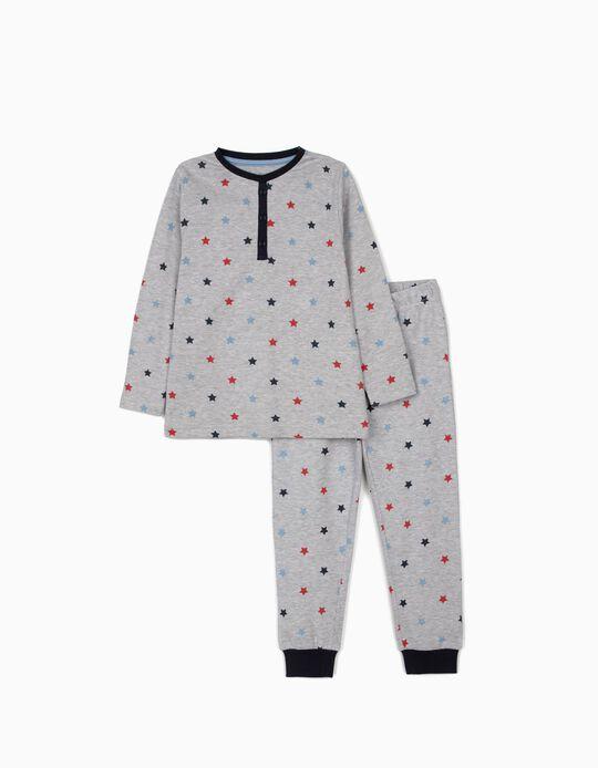 Pijama para Menino 'Stars', Cinza