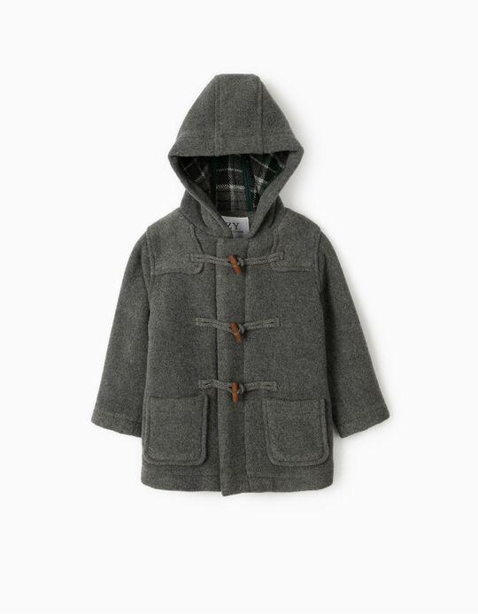 Duffle Coat for Baby Boys, 'B&S', Grey