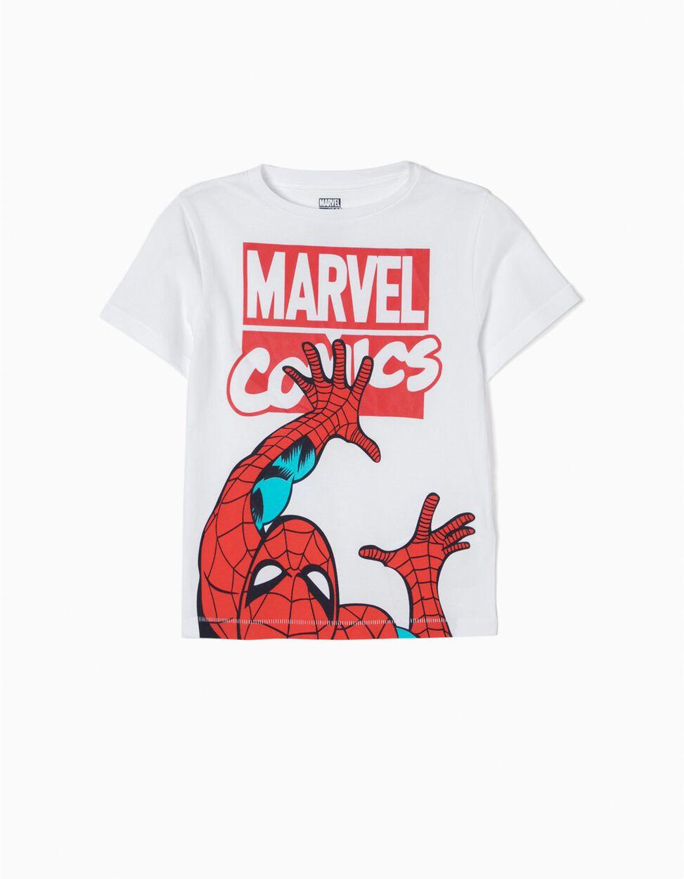 T-shit Spider-Man Branca