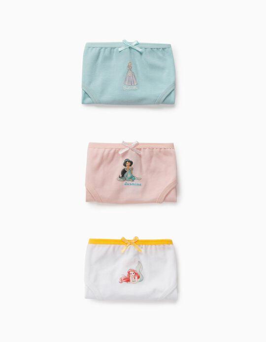 3 Cuecas da Disney Princess, para Menina