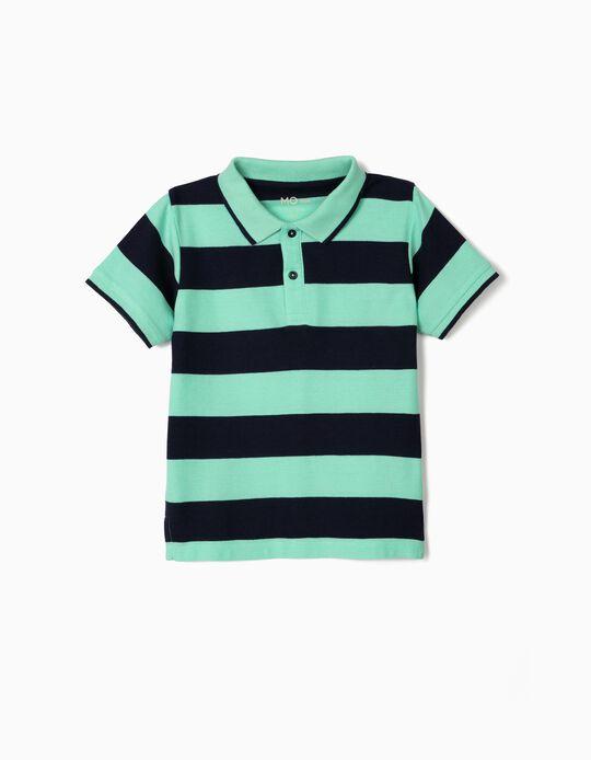 Striped Polo Shirt, for Boys