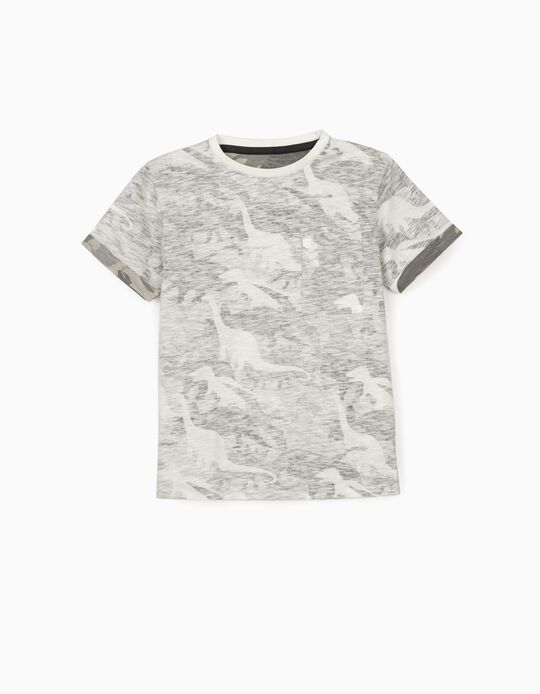 T-shirt for Boys, 'Dinos', Grey