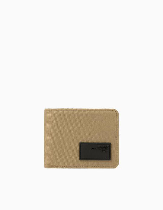 Canvas Wallet for Men, Beige