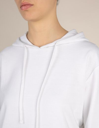 Sweatshirt com capuz e bolsos laterais