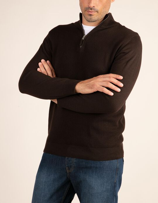 Structured jumper with elbow patches