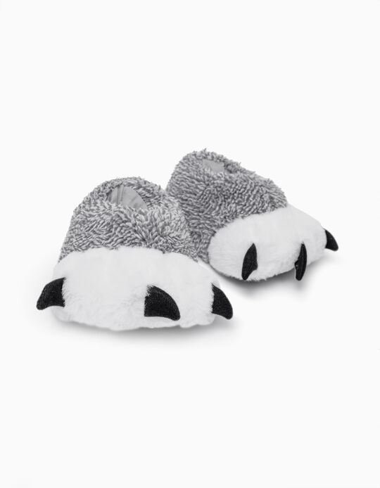 Slippers for Children 'Paws', Grey