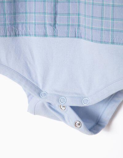 Body-Camisa Combinada Quadrados