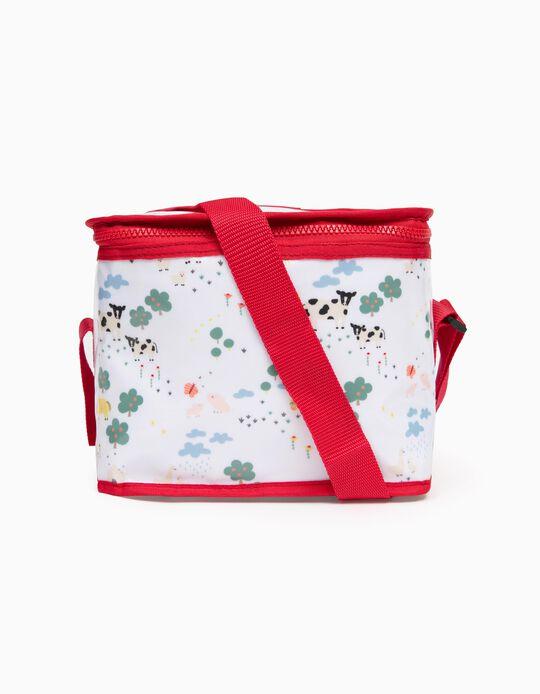Thermal Lunch Bag for children 'Farm', White