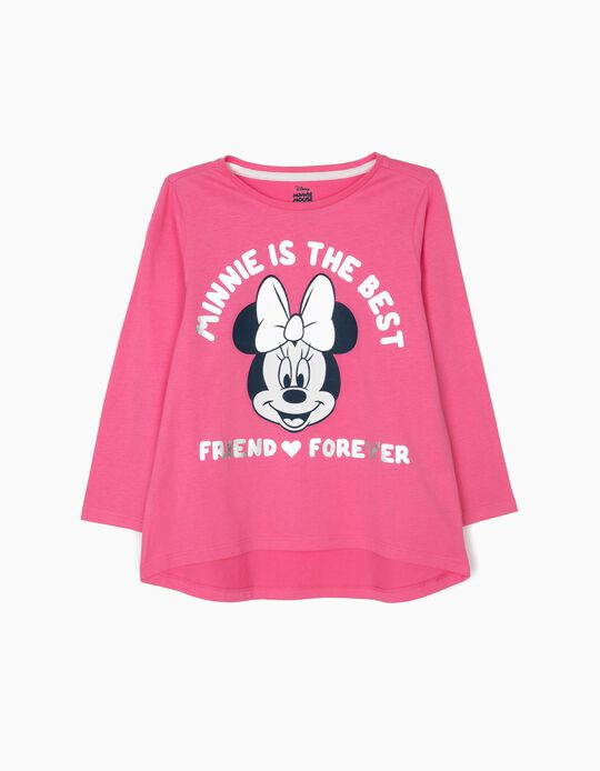 T-shirt Manga Comprida para Menina 'Minnie BFF', Rosa